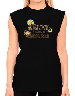 Relax, I Am A Khalsa Sikh T-Shirt - Sleeveless-Womens