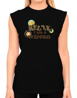 Relax, I Am A Wiccan T-Shirt - Sleeveless-Womens