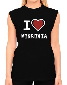 I Love Monrovia T-Shirt - Sleeveless-Womens