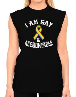 I Am Gay And Accountable T-Shirt - Sleeveless-Womens