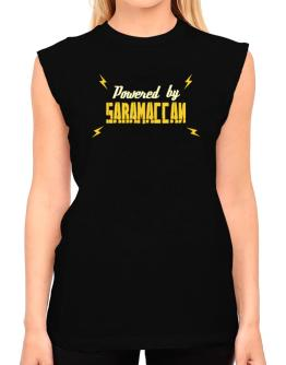 Powered By Saramaccan T-Shirt - Sleeveless-Womens