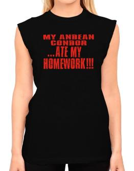 My Andean Condor ... Ate My Homework T-Shirt - Sleeveless-Womens