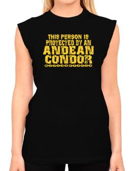This Person Is Protected By An Andean Condor T-Shirt - Sleeveless-Womens