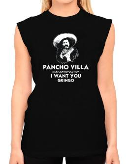 Pancho Villa Wants You T-Shirt - Sleeveless-Womens