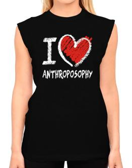 I love Anthroposophy chalk style T-Shirt - Sleeveless-Womens