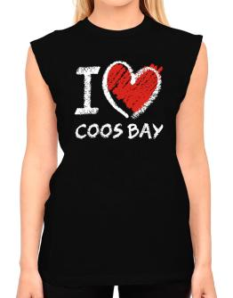 I love Coos Bay chalk style T-Shirt - Sleeveless-Womens