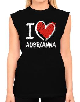 I love Aubrianna chalk style T-Shirt - Sleeveless-Womens