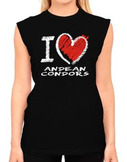 I love Andean Condors chalk style T-Shirt - Sleeveless-Womens