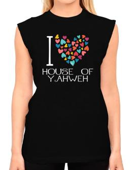 I love House Of Yahweh colorful hearts T-Shirt - Sleeveless-Womens