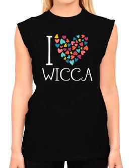 I love Wicca colorful hearts T-Shirt - Sleeveless-Womens