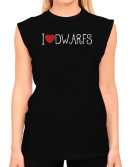 I love Dwarfs cool style T-Shirt - Sleeveless-Womens