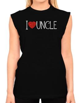 I love Auncle cool style T-Shirt - Sleeveless-Womens