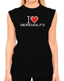 I love Werewolfs pixelated T-Shirt - Sleeveless-Womens
