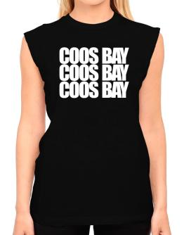 Coos Bay three words T-Shirt - Sleeveless-Womens