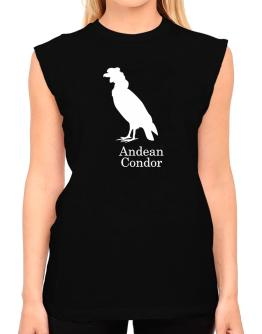 Andean Condor silhouette T-Shirt - Sleeveless-Womens