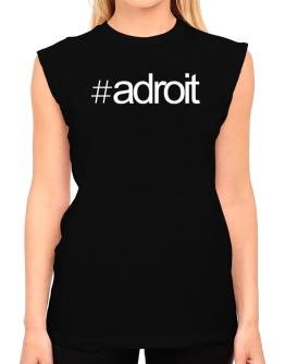 Hashtag adroit T-Shirt - Sleeveless-Womens