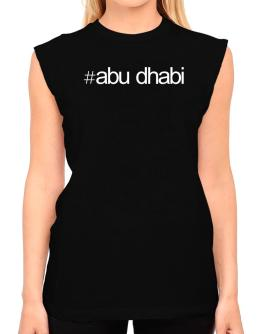 Hashtag Abu Dhabi T-Shirt - Sleeveless-Womens