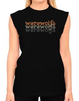 Werewolfs repeat retro T-Shirt - Sleeveless-Womens