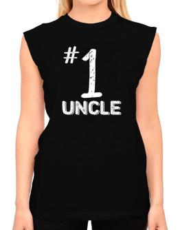 Number 1 Auncle T-Shirt - Sleeveless-Womens