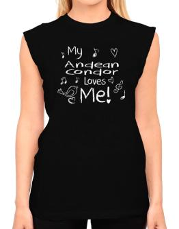 My Andean Condor loves me T-Shirt - Sleeveless-Womens