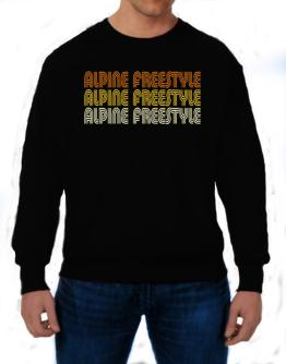 Alpine Freestyle Retro Color Sweatshirt