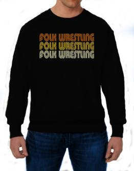 Folk Wrestling Retro Color Sweatshirt