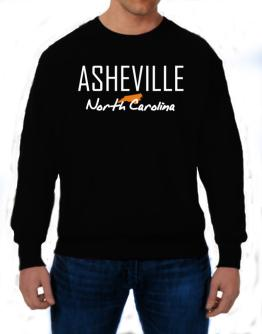 """ Asheville - State Map "" Sweatshirt"