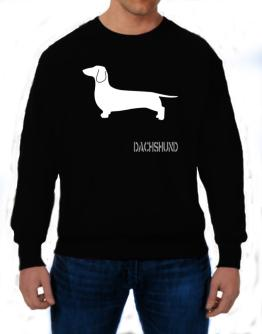Dachshund Stencil / Chees Sweatshirt