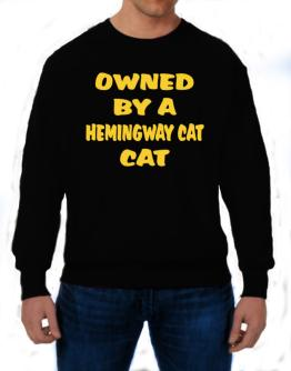 Owned By S Hemingway Cat Sweatshirt