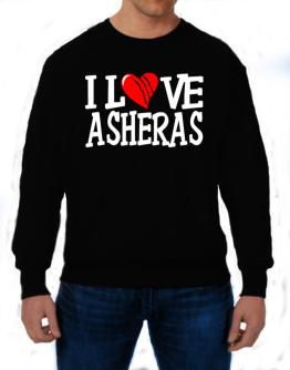 I Love Asheras - Scratched Heart Sweatshirt