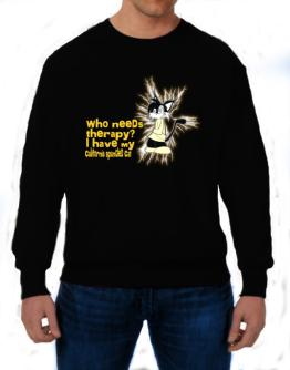 Who Needs Therapy? I Have My California Spangled Cat Sweatshirt