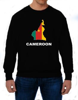 Cameroon - Country Map Color Sweatshirt