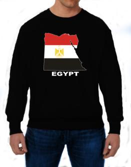 Egypt - Country Map Color Sweatshirt