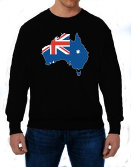Australia - Country Map Color Simple Sweatshirt