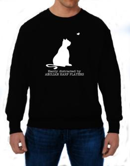 Easily Distracted By Aeolian Harp Players Sweatshirt