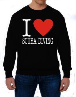 I Love Scuba Diving Classic Sweatshirt