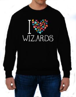 I love Wizards colorful hearts Sweatshirt