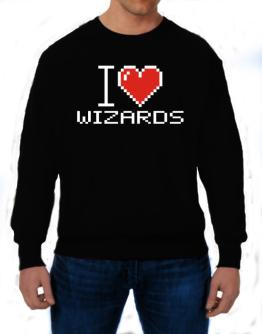 I love Wizards pixelated Sweatshirt