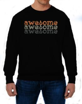 awesome repeat retro Sweatshirt