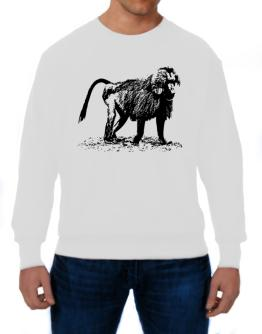 Baboon sketch Sweatshirt