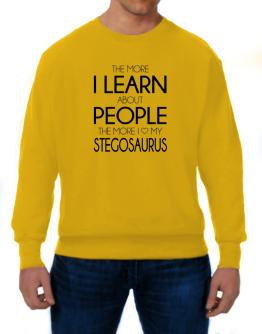 Polera de The more I learn about people the more I love my Stegosaurus