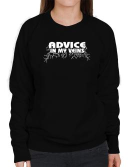 Advice In My Veins Sweatshirt-Womens