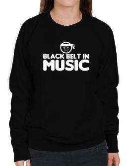 Black Belt In Music Sweatshirt-Womens