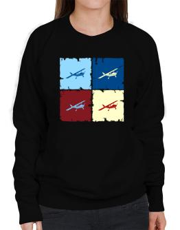 """ Aerobatics - Pop art "" Sweatshirt-Womens"
