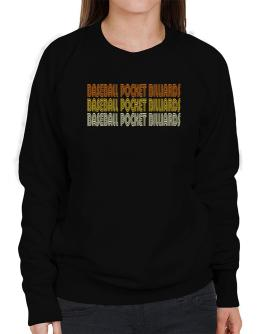 Baseball Pocket Billiards Retro Color Sweatshirt-Womens