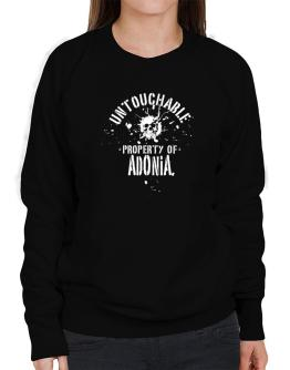 Untouchable Property Of Adonia - Skull Sweatshirt-Womens