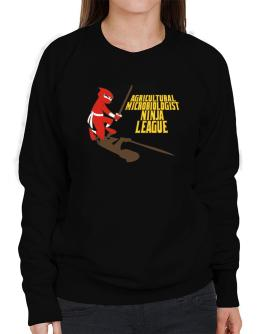 Agricultural Microbiologist Ninja League Sweatshirt-Womens