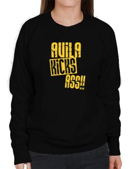 Avila Kicks Ass!! Sweatshirt-Womens