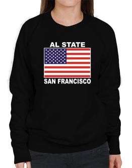 """ San Francisco - US Flag "" Sweatshirt-Womens"