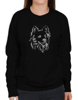 """ Australian Cattle Dog FACE SPECIAL GRAPHIC "" Sweatshirt-Womens"